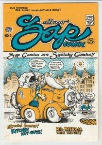 Zap #1 (Nov-67) VF+ High-Grade Whiteman, Mr. Natural, Flaky Foont