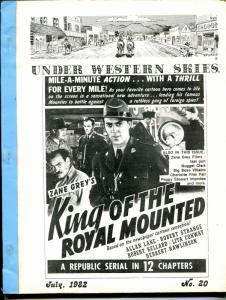Under Western Skies #20 7/1982-King of The Royal Mounted-Zane Grey-G/VG