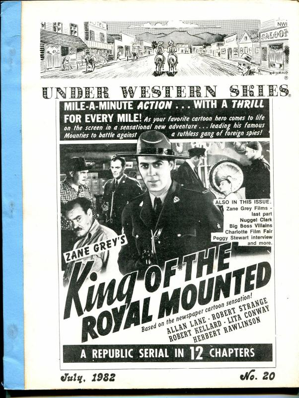 Under Western Skies #20 7/1982-King of The Royal Mounted-Zane Grey-G/VG