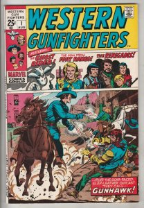 Western Gunfighters #1 (Aug-70) NM Super-High-Grade Ghost Rider, the Renegade...