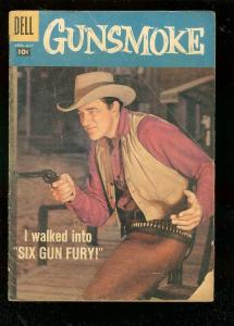 GUNSMOKE #8 1958-DELL COMICS-JAMES ARNESS TV PHOTO COVR G/VG