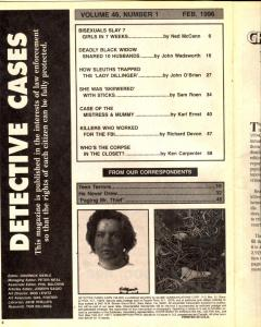 Detective Cases February 1996- BISEXUAL RAPIST-LADY DILLINGER-
