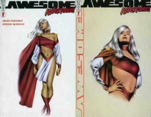 AWESOME ADVENTURES (1999 AWESOME)  1A,1B MOORE & ROSS ! COMICS BOOK