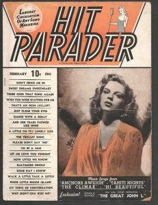 Hit Parader 2/1945-Charlton-Judy Garland cover-Star photos & film lyrics-VG