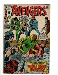 Avengers # 81 VF/NM Marvel Comic Book Hulk Thor Captain America Iron Man OF2