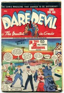 DAREDEVIL COMICS #46 1948-CHARLES BIRO- Golden Age G-