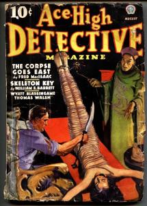Ace-High Detective August 1936-First issue!-Rare weird menace pulp magazine