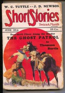 Short Stories 6/15/1928-James zMcKell cover-Thomson Burtis-Ghost Patrol-Mul...