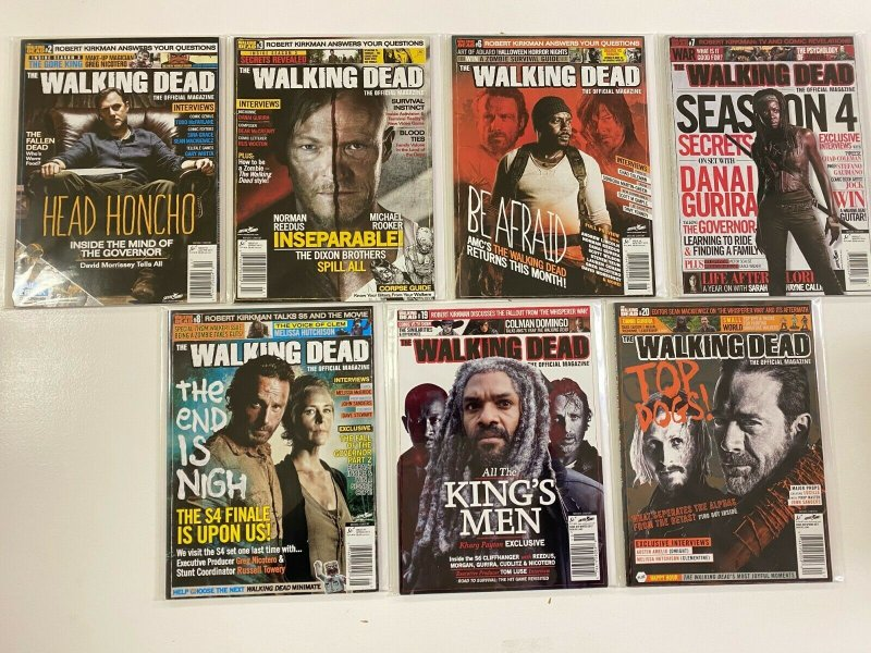 The Walking Dead The Official Magazine Photo Covers 7 Diff #2-20 (2012-2017)