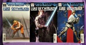 Star Wars Age of Rebellion LUKE SKYWALKER Variant Cover 3-Pack (Marvel, 2019)!