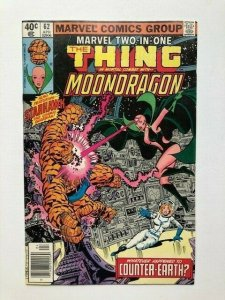 MARVEL Two in one THE THING combats MOONDRAGON #62 newsstand ed.FINE (A292)