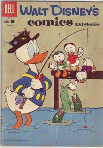 Comics and Stories, Walt Disney's #237 (Jun-60) VG Affordable-Grade Donald Du...