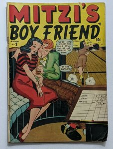 Mitzi's Boyfriend #3 (Aug 1948, Timely) VG- 3.5