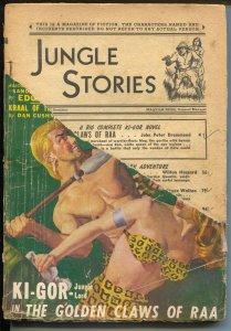 Jungle Stories Fall 1948-Fiction House- Ki-gor novel-pulp jungle fun-FR