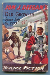 SCIENCE FICTION FORTNIGHTLY #4 FALL 1951-BRITISH-PULP STYLE-ROCKET SHIP COVER-vg