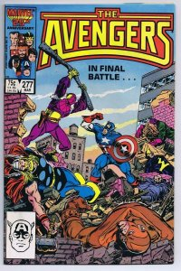 Avengers #277 ORIGINAL Vintage 1987 Marvel Comics Captain America vs Baron Zemo