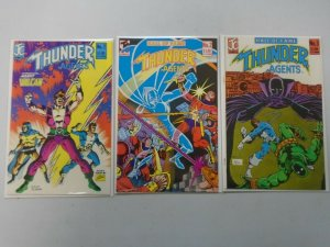 THUNDER Agents lot 3 different issues 8.0 VF (1983 JC)