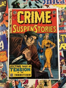 Crime Suspenstories #25 VG/F 5.0 ec comic JACK KAMEN 1954 golden age HORROR