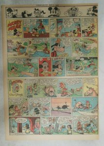 Mickey Mouse Sunday Page by Walt Disney from 9/2/1945 Tabloid Page Size
