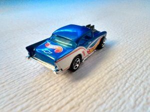 Rare 1955 Hot Wheels logo Chevy. Production and casting 1970 8