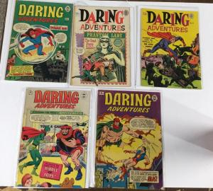 Daring Adventures 11 12 16 17 18 Vg Very Good 4.0 Some Tape Spines Super Comics