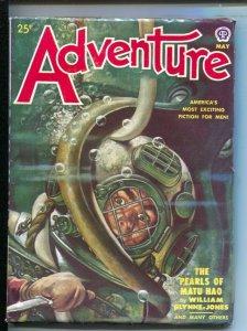 Adventure 5/1950-Popular-Rafael DeSoto cover-Hardboiled pulp thrills by Jim K...