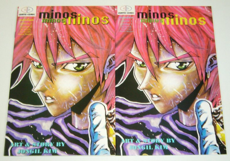 Minos #1-2 VF/NM complete series - curtis comic manga - jongil kim set lot indy