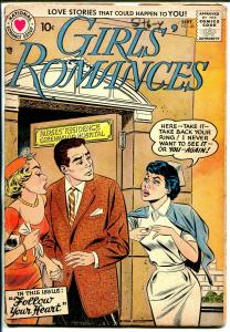 Girls' Romances #46 1957-DC-spicy art-nurse/love triangle cover-VG+