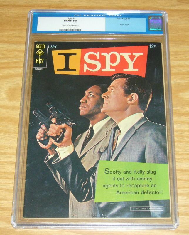 I Spy #1 CGC 7.0 silver age gold key comics - BILL COSBY photo cover 1966