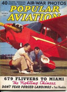 Popular Aviation 3/1940- photo cover-WWII info-air-war photosr-VG