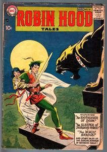 ROBIN HOOD TALES #10-4th ISSUE-1957-DC-ANDRU AND ESPOSITO COVER ART-GLOSSY G/VG