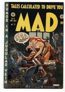 MAD #5-1953-EC COMICS-HARVEY KURTZMAN-WALLY WOOD-trimmed FN/VF