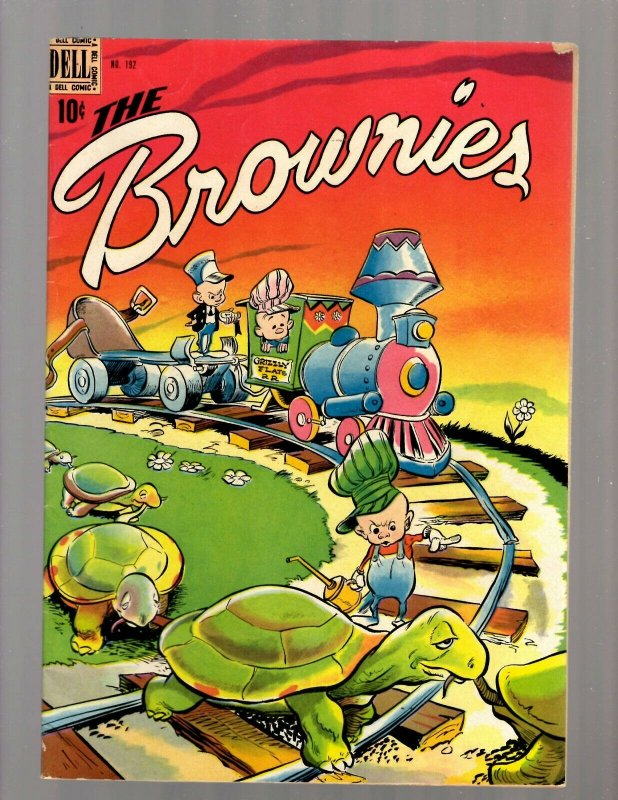 Four Color # 192 FN- The Brownies Dell Golden Age Comic Book Turtle Train JK7