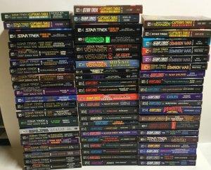 Star Trek Novels Lot Over 140 Books 60s 70s 80s 90s Pocket Books P201