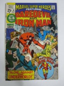 MARVEL SUPER-HEROES #31 (Marvel,11/1971) VERY GOOD-FINE (VG/F) Iron Man,DD