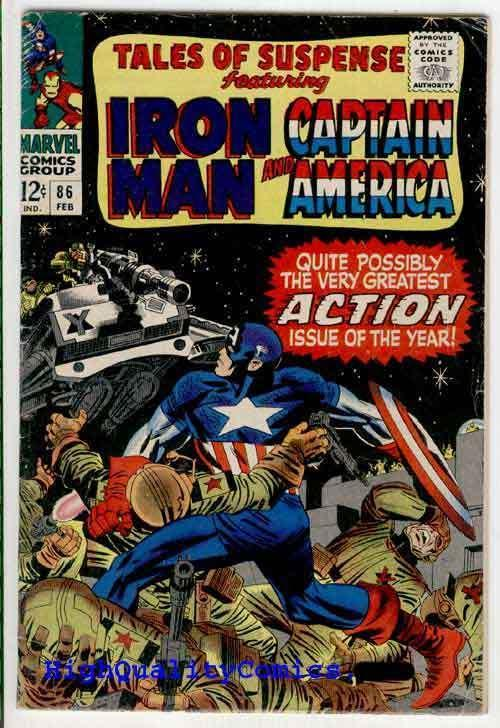 TALES of SUSPENSE #86, VG+, Captain America, Iron Man, Jack Kirby, 1967