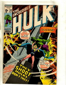 Incredible Hulk # 142 FN Marvel Comic Book Valkyrie Avengers Thor Iron Man RS2