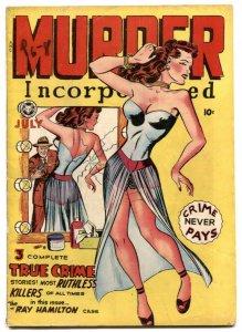 Murder Incorporated #4 1948- lingerie headlight cover VG rare
