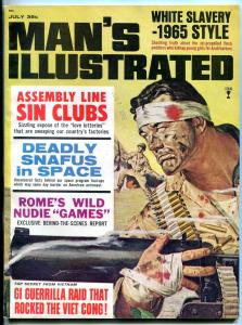 Man's Illustrated Magazine July 1965- Nudie Games- Space Program Snafus