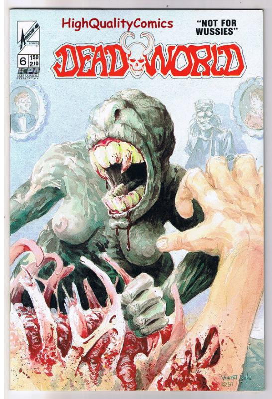DEADWORLD 6, VF+, Vincent Locke, Zombies, Arrow, Undead, 1986, Horror
