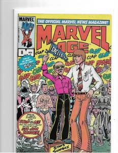 MARVEL AGE #8 - VF+ to VF/NM - STAN LEE INTERVIEW - 1983 1ST PRINT