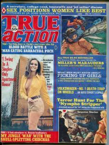 True Action 6/1973-Atlas-headhunters-Earl Norem-cheesecake-pulp fiction-GOOD+