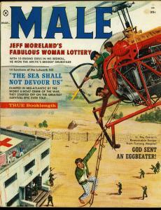 Male Pulp Magazine March 1960- Nazi cover- Claudia Cardinale VG