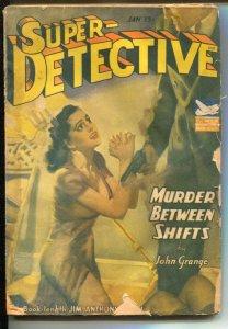 Super-Detective 1/1943-WWII era-Jim Anthony story-John Grange-hero pulp-GGA-G-