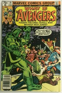 WHAT IF...#20 VF 1980 THE AVENGERS MARVEL BRONZE AGE COMICS