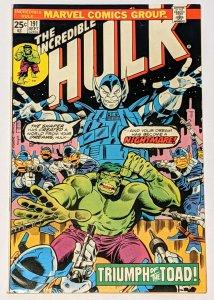 The Incredible Hulk #191 (Sept 1975, Marvel) VF- 7.5 Shaper of the World app