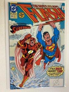 Flash #53 DC 2nd Series 7.0 (1991) Flash races Superman