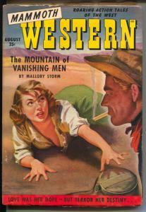 Mammoth Western 8/1950-Robert Bloch-Les Savage Jr-cleavage cover-G