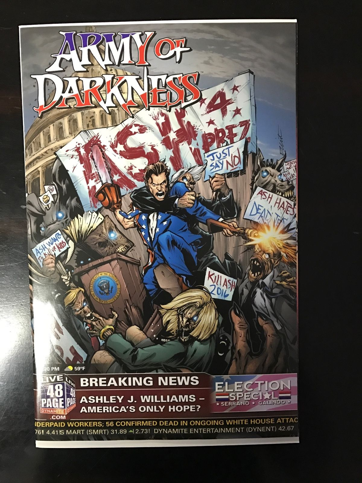 Army Of Darkness Ash For President One Shot Ultra High Grade