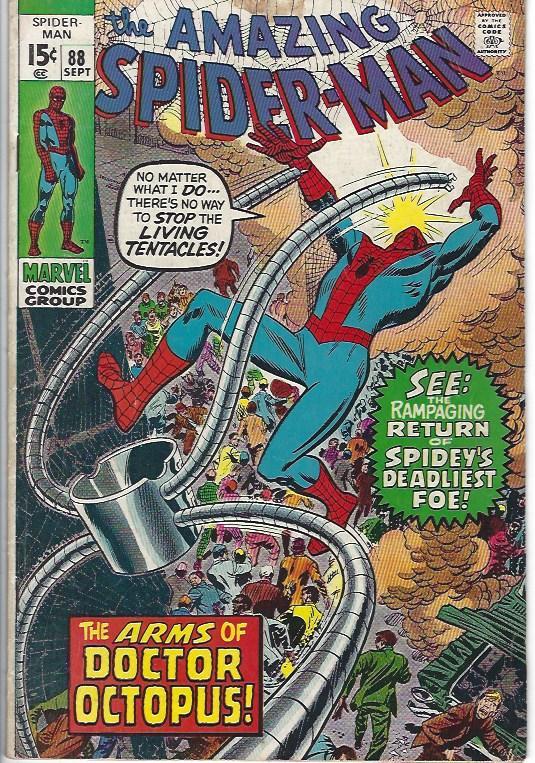 amazing spider man #88 $10.00 vg+